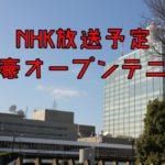 全豪オープンテニス2019の放送日程【NHK】生中継は?